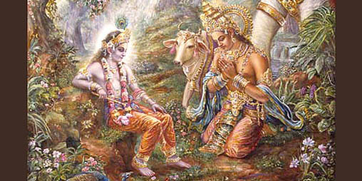 Indra Prays to Lord Krishna